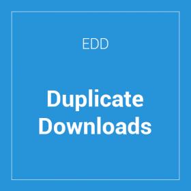 Easy Digital Downloads Duplicate Downloads