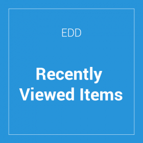 Easy Digital Downloads Recently Viewed Items