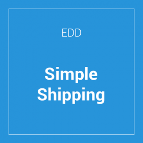 Easy Digital Downloads Simple Shipping