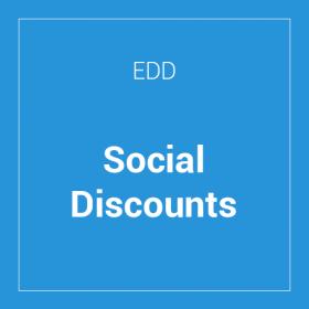 Easy Digital Downloads Social Discounts