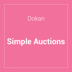 Dokan – Simple Auctions Integration
