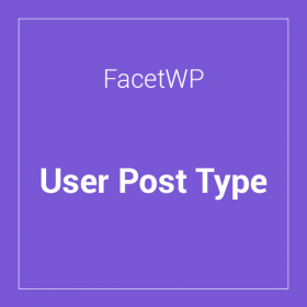 FacetWP User Post Type Add-on