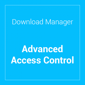 WP Download Manager Advanced Access Control
