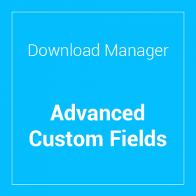 WP Download Manager Advanced Custom Fields