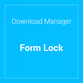 WP Download Manager Form Lock