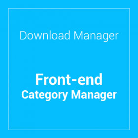 WP Download Manager Front-end Category Manager