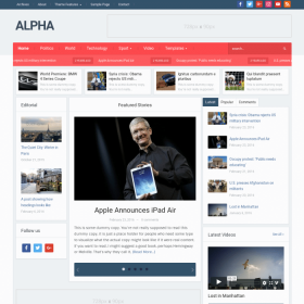 WPZoom Alpha WordPress Theme