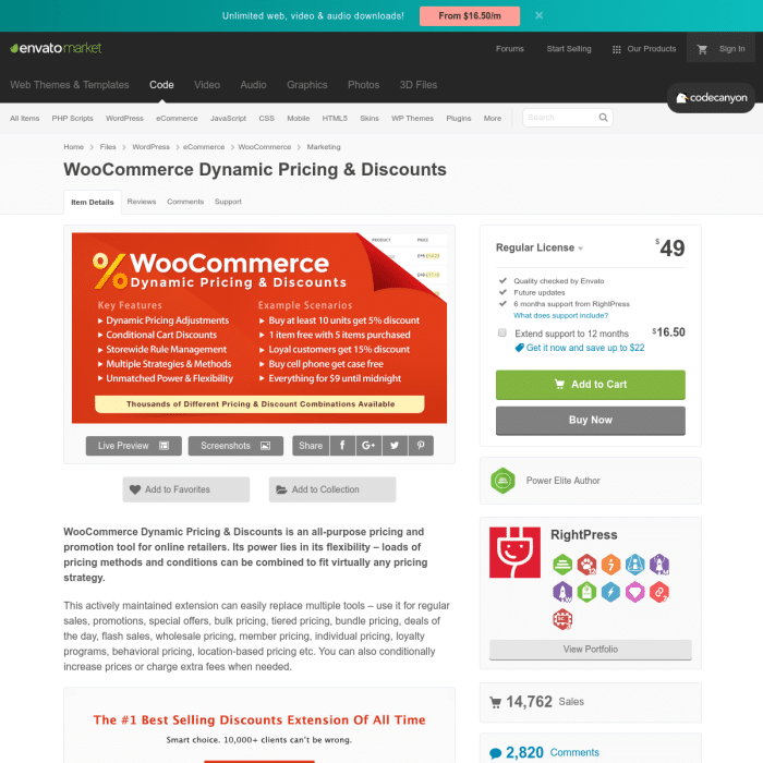 Advanced dynamic pricing for woocommerce 2020