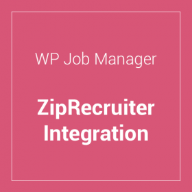 WP Job Manager ZipRecruiter Integration