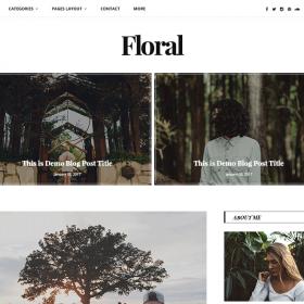 GretaThemes Floral WordPress Theme