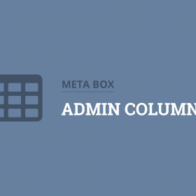 Meta Box Admin Columns