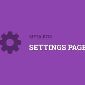 Meta Box Settings Page