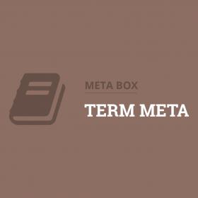 Meta Box Term Meta