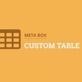 Meta Box Custom Table
