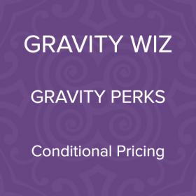 Gravity Perks – Gravity Forms Conditional Pricing