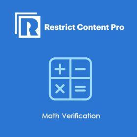 Restrict Content Pro Math Verification 1.0.5