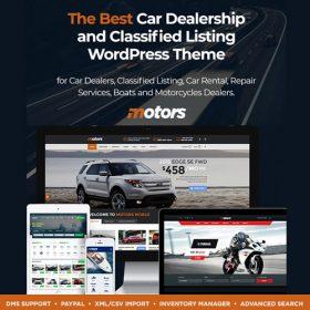 Motors – Automotive, Car Dealership, Car Rental, Auto, Classified Ads, Listing WordPress Theme