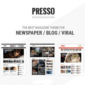 PRESSO – Modern Magazine / Newspaper / Viral Theme