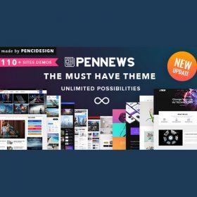 PenNews – News/ Magazine/ Business/ Portfolio/Reviews Landing AMP WordPress Theme