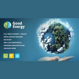 Good Energy – Ecology & Renewable Power Company WordPress Theme