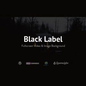 Black Label – Fullscreen Video & Image Background