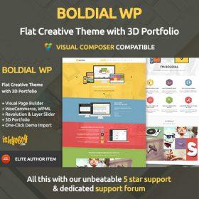 Boldial WP – Flat Creative Theme with 3D Portfolio