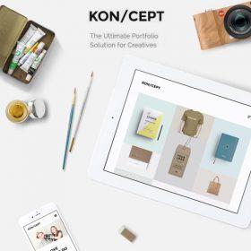 KON/CEPT – A Portfolio Theme for Creative People