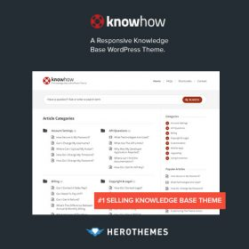 KnowHow – A Knowledge Base WordPress Theme