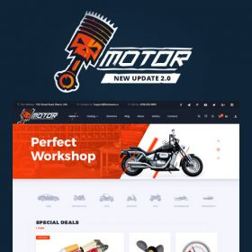 Motor – Vehicles Parts – Equipments and Accessories WooCommerce Store