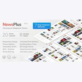 NewsPlus – News and Magazine WordPress theme