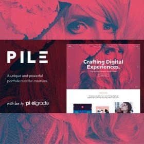 PILE – An Uncoventional WordPress Portfolio Theme