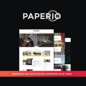 Paperio – Responsive and Multipurpose WordPress Blog Theme