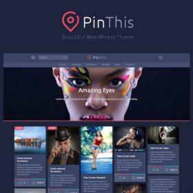 PinThis – Pinterest Style WordPress Theme