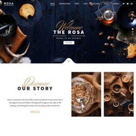 ROSA – An Exquisite Restaurant WordPress Theme