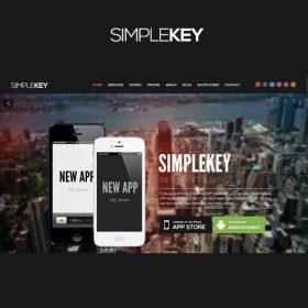 SimpleKey – One Page Portfolio WordPress Theme