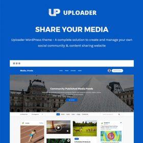 Uploader – Advanced Media Sharing Theme
