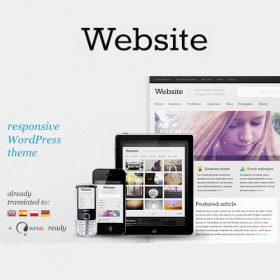 Website – Responsive WordPress Theme