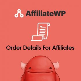 AffiliateWP Order Details For Affiliates