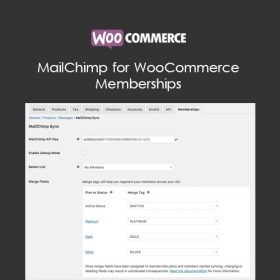 MailChimp for WooCommerce Memberships