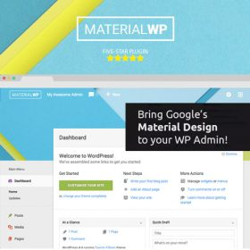 Material WP – Material Design Dashboard Theme