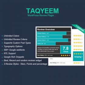 Taqyeem – WordPress Review Plugin