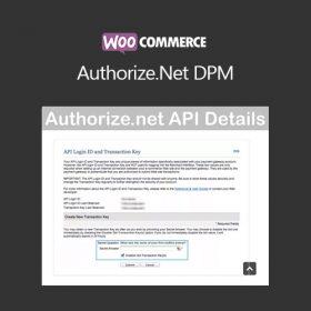 WooCommerce Authorize.Net DPM