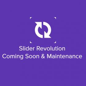 Slider Revolution Coming Soon & Maintenance
