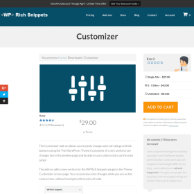 WP Rich Snippets Customizer