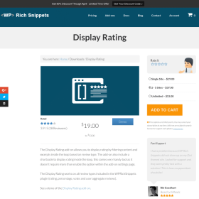 WP Rich Snippets Display Rating