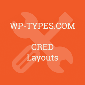 Toolset CRED Layouts Addon