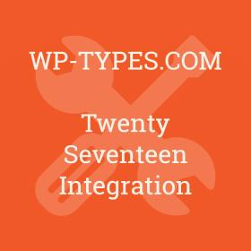 Toolset Twenty Seventeen Integration Addon