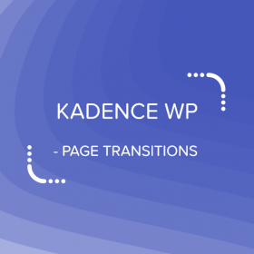 Kadence Page Transitions