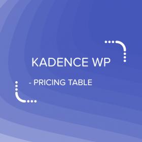 Kadence Pricing Table