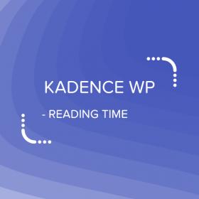 Kadence Reading Time